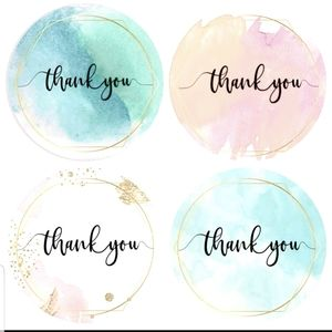 "🆕️""Thank you"" round stickers"